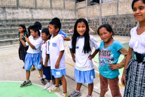 Students at a public elementary school in San Pedro La Laguna